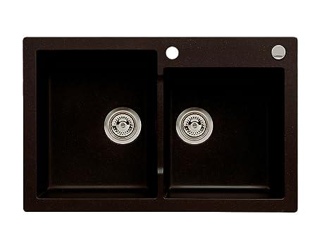 Axxsis/Granite Sink Kitchen Sink + Strainer 80 - Dimensions: W: 790 ...