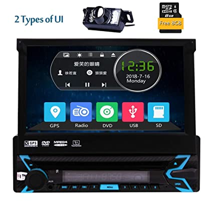 amazon com single din dvd receiver bluetooth 7 inch car stereosingle din dvd receiver bluetooth 7 inch car stereo touch screen headunit receiver