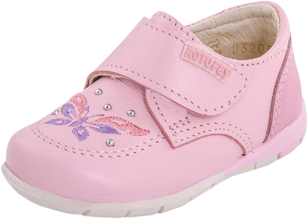 Kotofey Baby Girl Pink Sandals 022056-22 Genuine Leather Orthopedic Sandals with Arch Support