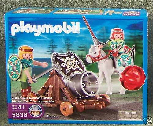 Playmobil Green Knight with Movable Cannon ()