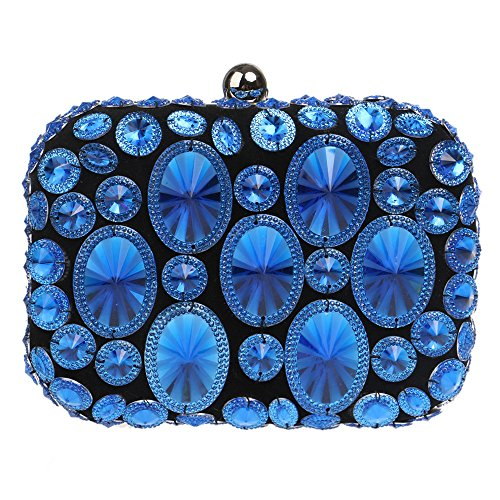 Coloré Prom à Sac GODW Party Soirée Blue Sac Robe Main Pochette Banquet Dames Diamant à Main 77OxqwE0