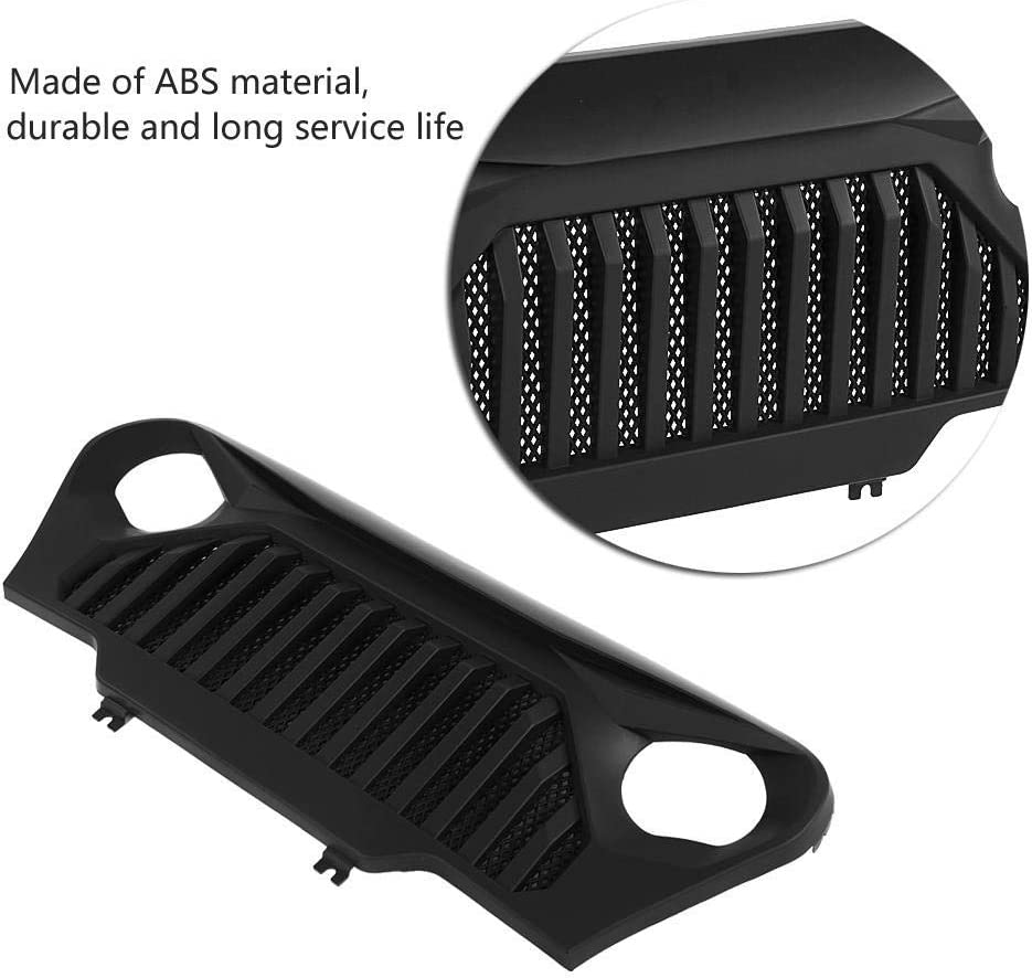 Front Black Grille Grid Grill for 1997-2006 Jeep Wrangler TJ Rubicon Sahara Sport Gloss Black