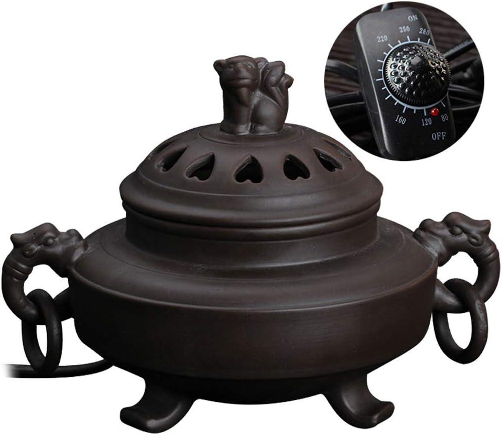 incensario de cerámica eléctrico - Horno Quemador de Aceite de aromaterapia de sincronización Esencial de Madera de agar, Porcelana para el hogar