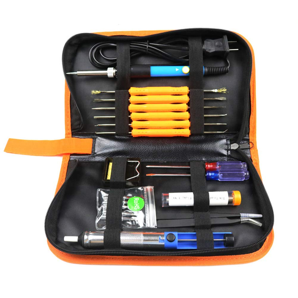 Ocamo 60W Electric Soldering Iron Tools Kit with Adjustable Temperature 806-220V [European Plug] Tool Kit by Ocamo (Image #9)