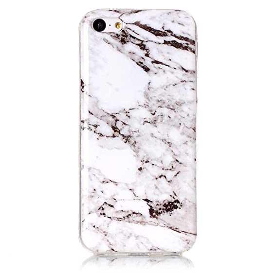 reputable site 9e323 2ee52 Amazon.com: 5C White Marble Case,IVY [Marble] iPhone 5C TPU Case ...
