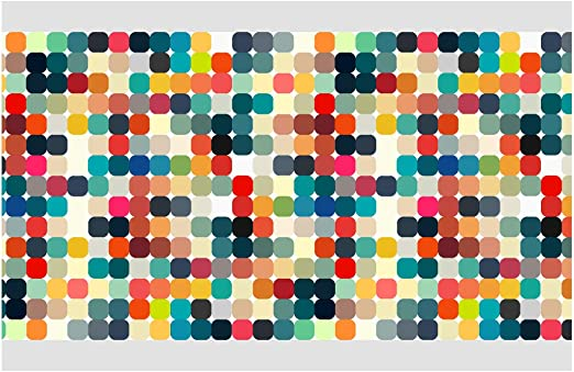 I-love-Wandtattoo Cenefa Autoadhesivo Formas de Colores Deco de la Pared Pegatinas de Pared pegat