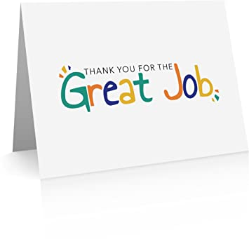 Thank You Note To Employee | Amazon Com Great Job Note Cards 12 Cards And Envelopes Employee