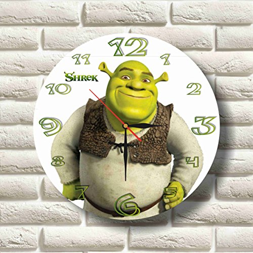 Shrek 11.8'' Handmade MAGIC WALL CLOCK FOR DISNEY FANS made of acrylic glass - Get unique décor for home or office – Best gift ideas for kids, friends, parents and your soul mates