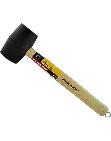 Marteau en caoutchouc marteau en nylon /à double t/ête d/étachable maillet artisanal en cuir bricolage avec poign/ée en acier 25mm