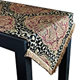 Sherry Kline Tangiers Luxury Table Runner, 18'' X 108'', Black/Multicolor