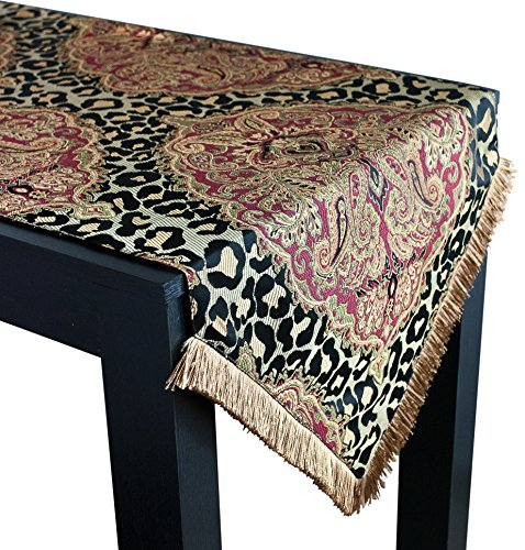 Sherry Kline Tangiers Luxury Table Runner, 18'' X 90'', Black/Multicolor by Sherry Kline
