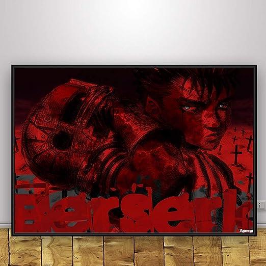 zxddzl Anime Art Seda Cartel decoración de la Pared de ...