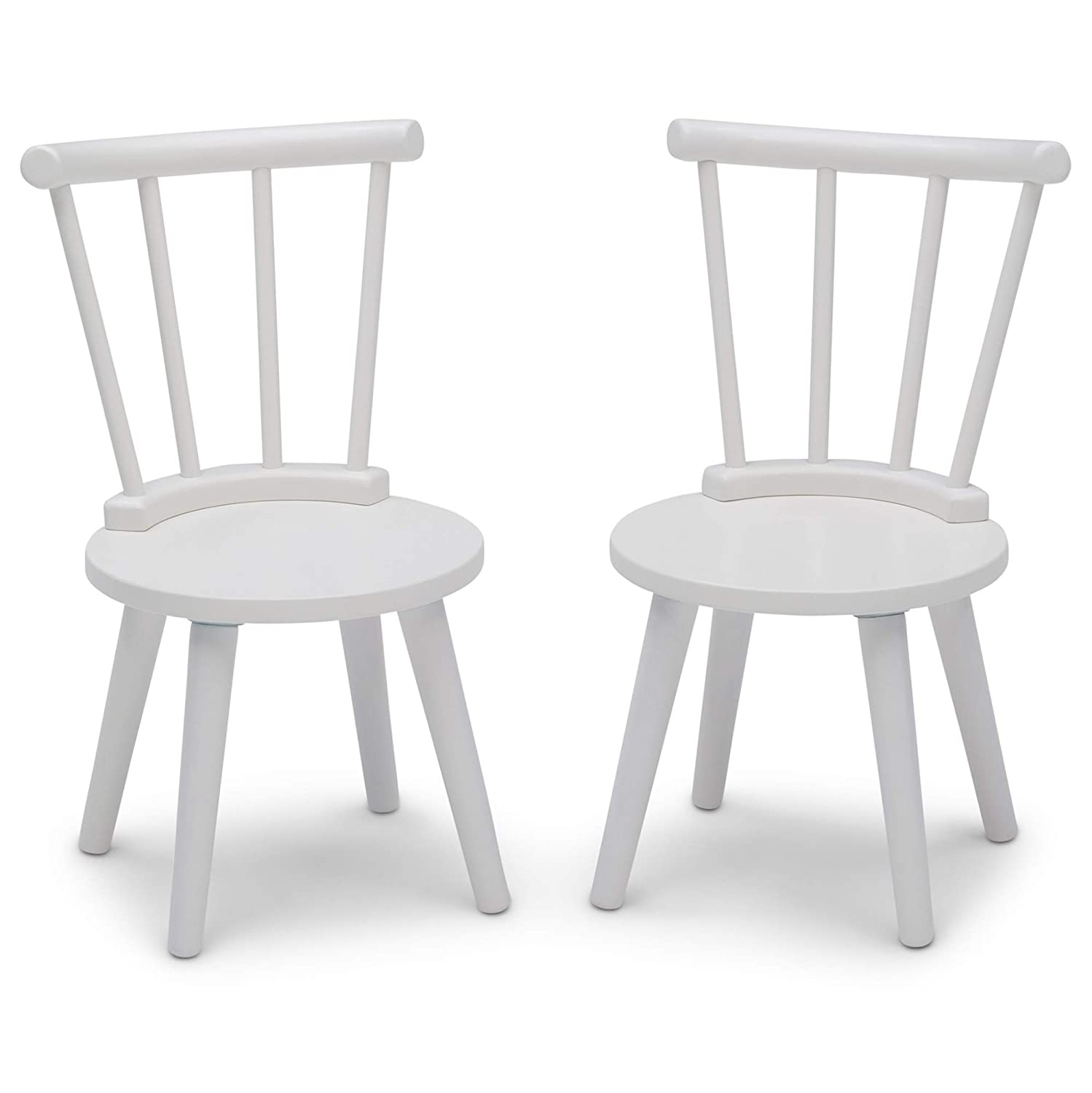 Delta Children Homestead 2-Piece Chair Set- Ideal for Arts & Crafts, Snack Time, Homeschooling, Homework & More, Bianca White