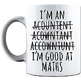 Funny Novelty Printed Mugs I'm An Accountant I'm Good At Maths Funny Office Novelty Coffee Mug Tea Cup Gift