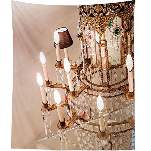 Westlake Art - Chandelier Historical - Wall Hanging Tapestry - Picture Photography Artwork Home Decor Living Room - 68x80 Inch (93771)