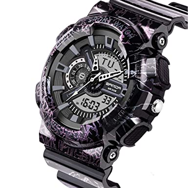 Reloj deportivo, impermeable, precisa hora, unisex, anillo ajustable brazalete de acero inoxidable,Hombres Relojes deportivos Cronógrafo Militar Relojes ...