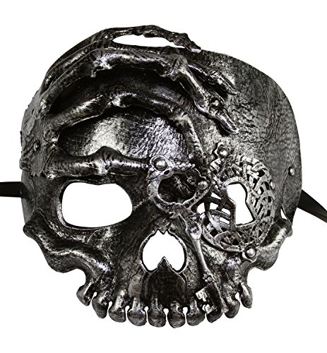KAYSO INC The Caribbean Pirate Full Face Skull Mask (Vintage (Venetian Pirate Mask)