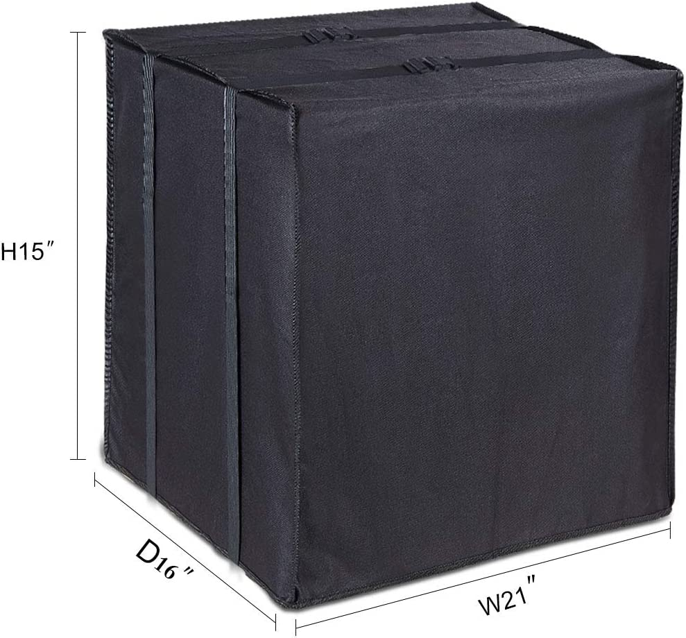 LBG Products Outdoor Winter AC Window Black Cover Heavy Duty Air Conditioner Defender for Standard American Window Units