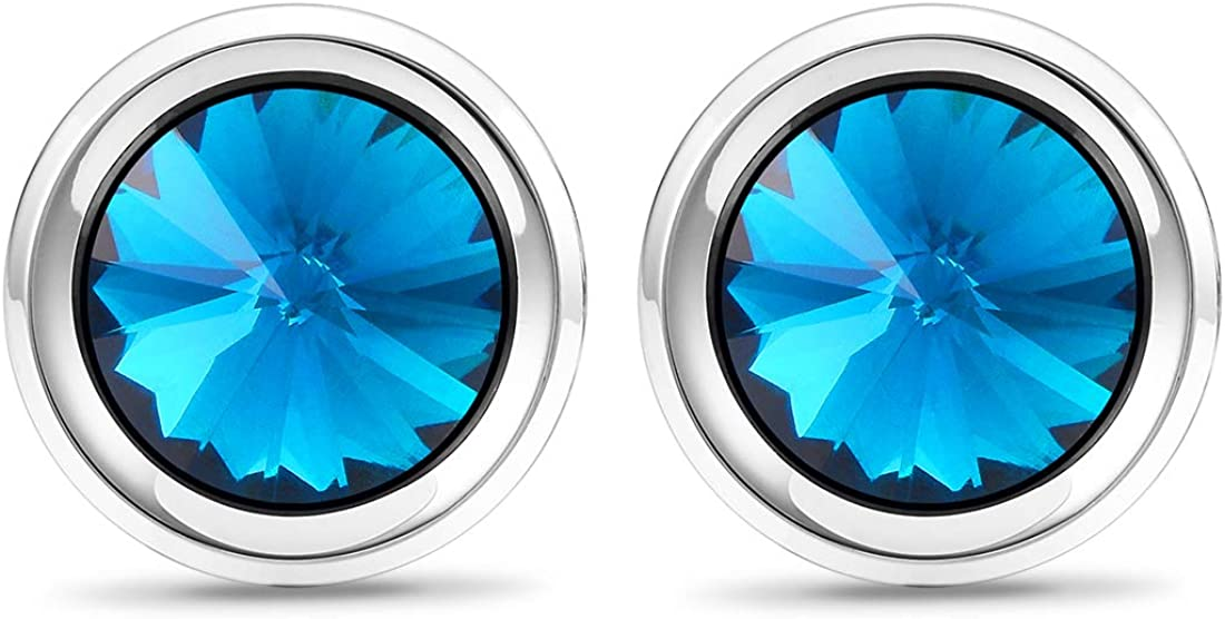 Cat Eye Jewels Round Silver Black Glass Crystal with Cubic Zirconia Inlay Mens Cufflinks for Men Luxurious Tuxedo Formal Shirts Wedding Busibess Birthday Gifts Box