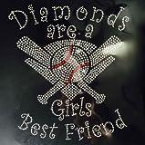 Diamonds are a Baseball Girls Best Friend Rhinestone Transfer Iron On - DIY
