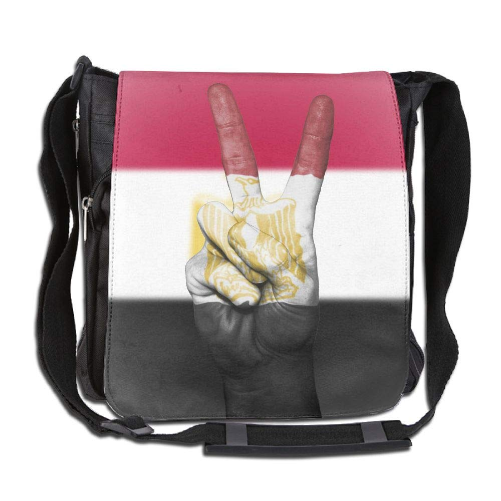 SARA NELL Messenger Bag,Egypt Flag Victory,Unisex Shoulder Backpack Cross-body Sling Bag