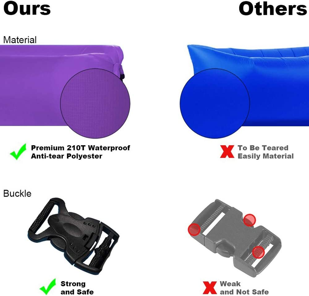 Amazon.com: Anktry - Tumbona hinchable portátil, a prueba de ...