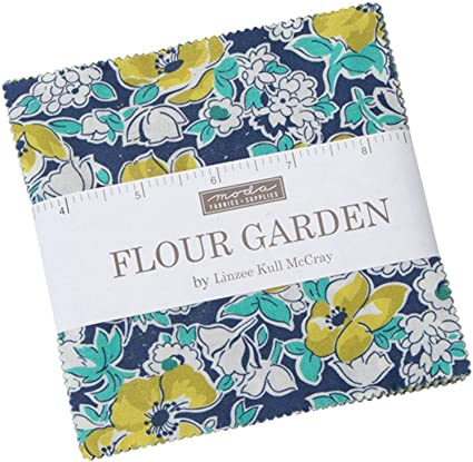 Flour Garden Mini Charm Pack by Linzee Kull McCray; 42-2.5 Inch Precut Fabric Quilt Squares