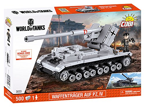 (COBI World of Tanks /3033/ WAFFENTRAGER AUF PZ.IV, 500 Building)