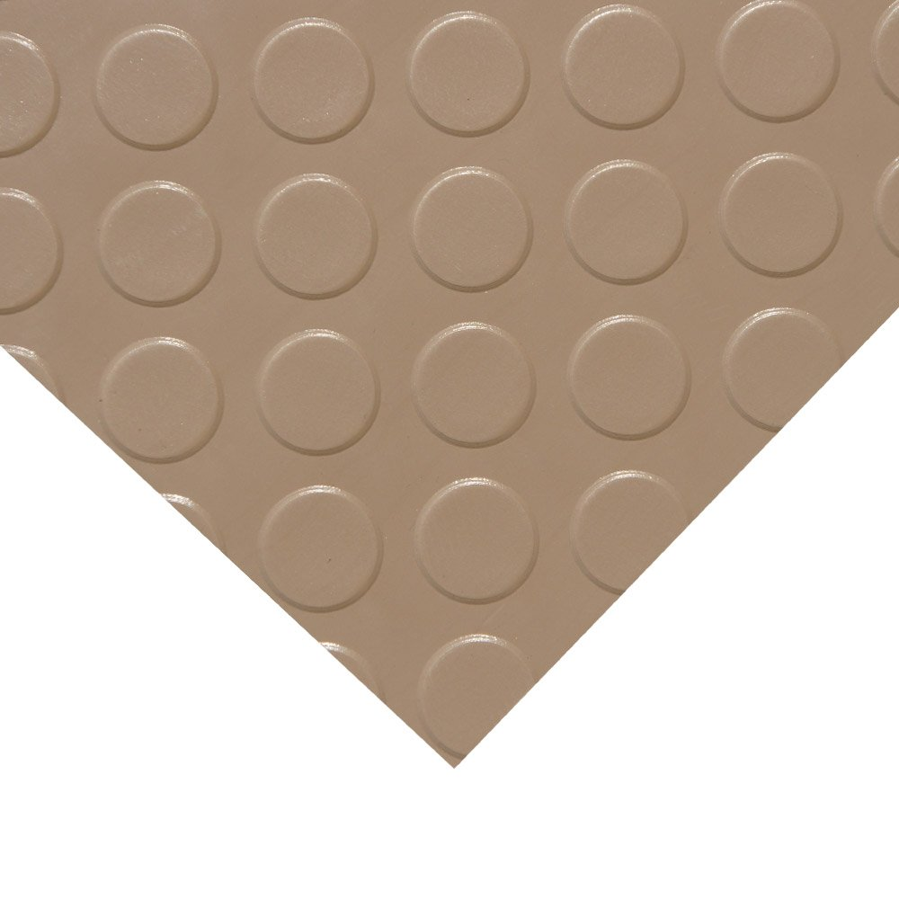 Rubber-Cal Coin Grip Metallic PVC Flooring, Beige, 2.5mm x 4' x 9' by Rubber-Cal