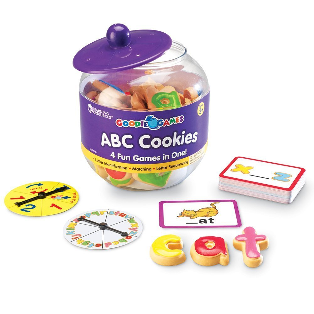 Learning Resources Goodie Games ABC Cookies, 4 Games in 1, Math Games for Kindergarten, Alphabet, Pre-Reading, Phonics, Ages 3+