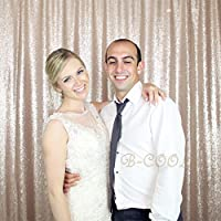B-COOL 8ft x 10ft Champagne Photo Booth Backdrop Curtain Photo Backdrop Curtain Backdrop