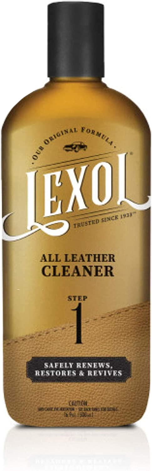 Lexol Leather Cleaner, pH-balanced for Use on Leather Apparel, Furniture, Auto Interiors, Shoes, Handbags and Accessories, 16.9 oz