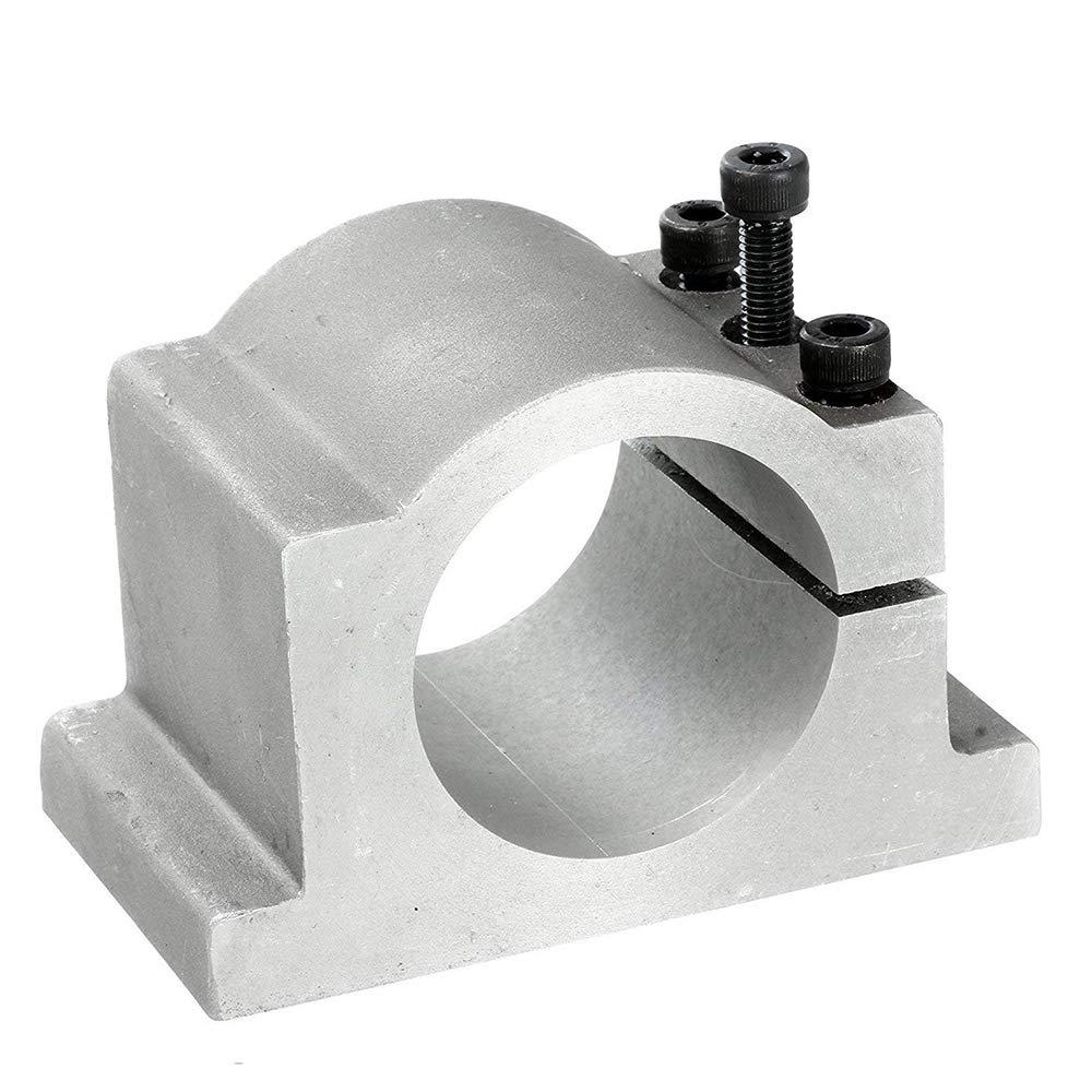 80mm CNC Spindle Motor Mount Bracket Clamp for 1.5kw 2.2kw CNC Engraving Milling Machine Spindle Clamp Bracket 3 Screws