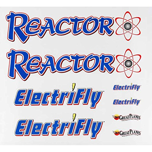 Great Planes Decal Sheet Reactor 3D EP Vehicle Part