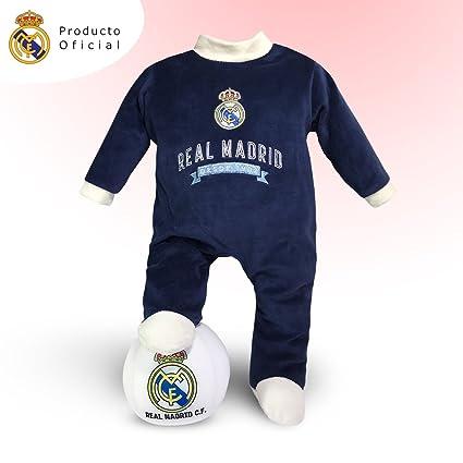 Traje bebé Real Madrid + Balón peluche del equipo