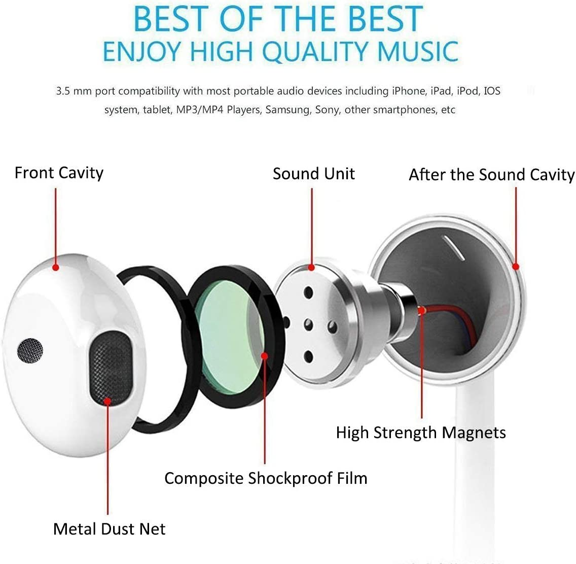 Lighting Connector Earbuds Earphone Wired Headphones Headset with Mic and Volume Control,Sound Pretty,Compatible with iPhone 11 Pro Max//Xs Max//XR//X//7//8 Plus Plug and Play Telescope Cases
