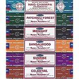 Satya-Set of 6-Nag Champa, Sunrise, Sandalwood, Midnight, Patchouli, Celestial 15 Grams