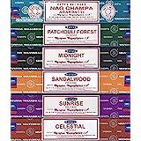 Satya - Set of 6 - Nag Champa, Sunrise, Sandalwood, Midnight, Patchouli, Celestial 15 grams
