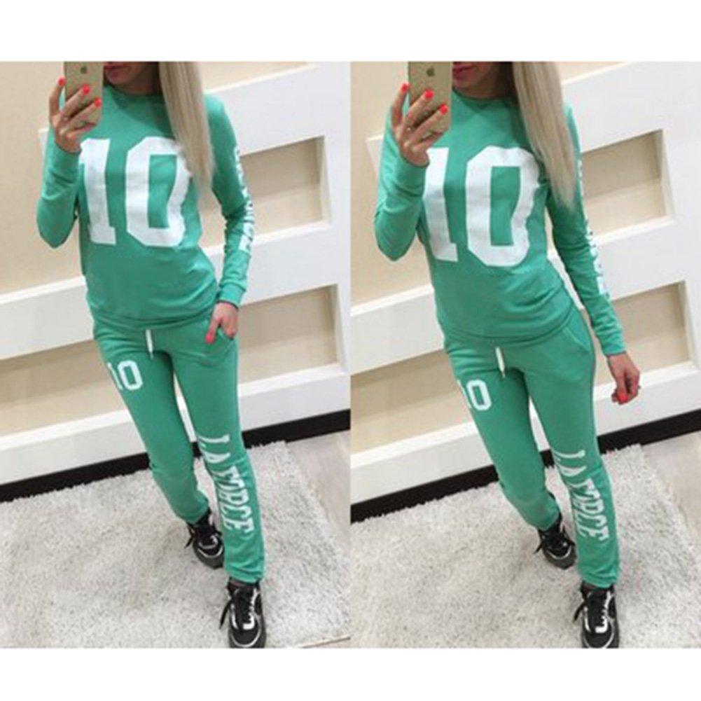 Pantaloni Outfit Sport Jogging Suit MEIHAOWEI Tuta Donna Set Manica Lunga Stampa Felpe Felpa