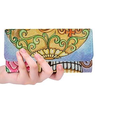 Amazon.com: Monedero para mujer, diseño de calavera con ...