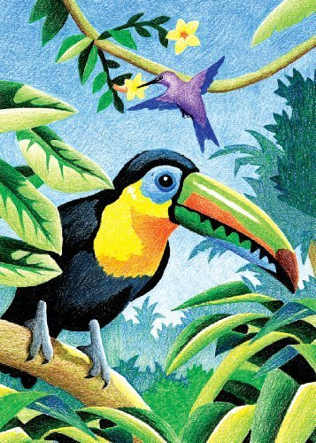 (Royal & Langnickel Mini Colour Pencil By Number Kit: 5x7 Tropical Birds )