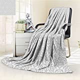 Digital Printing Blanket Taupe Motifs Arabian Islamic Art s in Mod Graphic Design Summer Quilt Comforter