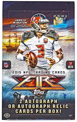 (NFL 2015 Topps Fire Football Trading Card Hobby Box)