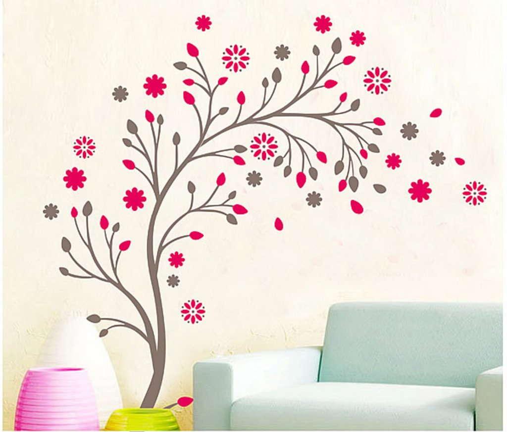 Buy Decals Design  Beautiful Magic Tree with Flowers  Wall Sticker  PVC  Vinyl  50 cm x 70 cm  Online at Low Prices in India   Amazon in. Buy Decals Design  Beautiful Magic Tree with Flowers  Wall Sticker