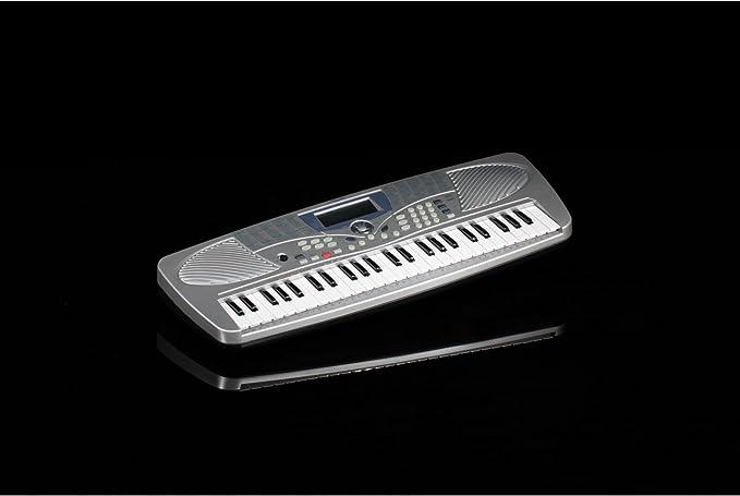 Teclado musical Medeli, modelo MC37A Bundle, con 49 teclas + fuente de alimentación + funda.