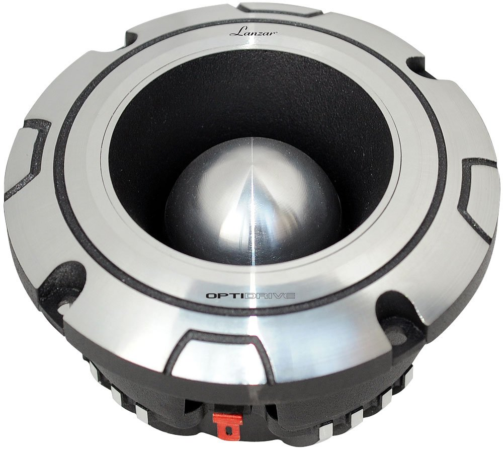 "Lanzar Upgraded Bullet Super Tweeter - Powerful Heavy Duty Aluminum -600 Watt Peak 2k - 20kHz Frequency Response and 4 Ohm w/102dB (1w/1m) Sensitivity and 1.75"" Kapton Voice Coil - Optidrive OPTIBT44"