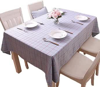 Amazon.com: YX XY Tablecloth - American Pastoral Plaid ...
