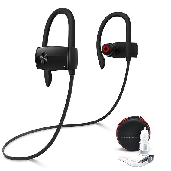 Bluetooth auriculares por asakuki, sonido para música y llamadas de teléfono Auriculares, IPX7 resistente