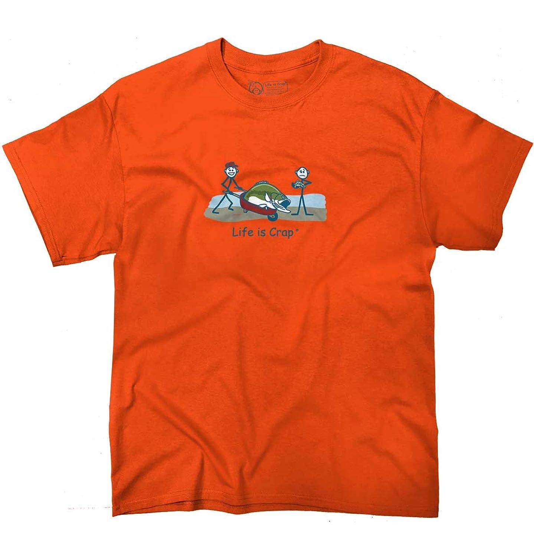 Life Is Crap Big Bass Good Life Funny Shirts Gift Ideas Cool T-Shirt Tee