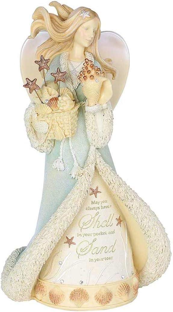 Enesco Heart of Christmas Coastal Seaside Angel Figurine 8.07 Inch Multicolor